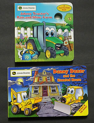 "John Deere Books ""new""  Johnny Tractor & Danny Dozer, Glow In Dark & Canyou Find"