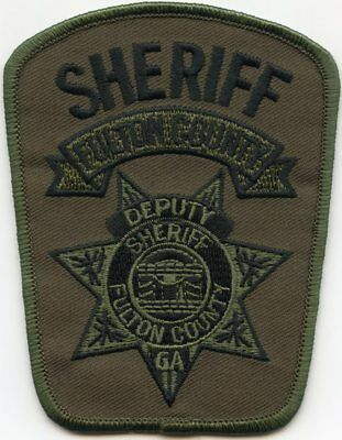 FULTON COUNTY GEORGIA GA subdued green DEPUTY SHERIFF POLICE PATCH