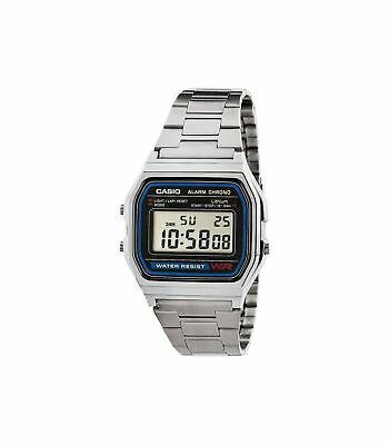 Casio Vintage Retro Silver Stainless Steel Digital Unisex Watch Large Small Silv