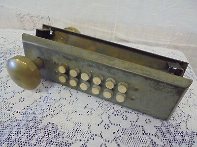 Antique Rare Master Lock Door Knob Set Mother Pearl Buttons Commercial 9-26-22