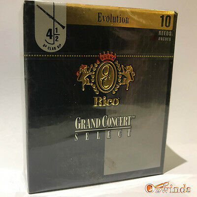 Grand Concert Select Evolution Bb Clarinet Reeds , Box of 10 - Strength 4 1/2
