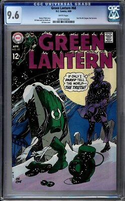 Green Lantern (1960-1988 1st Series DC) #68 CGC 9.6 WHITE Pages