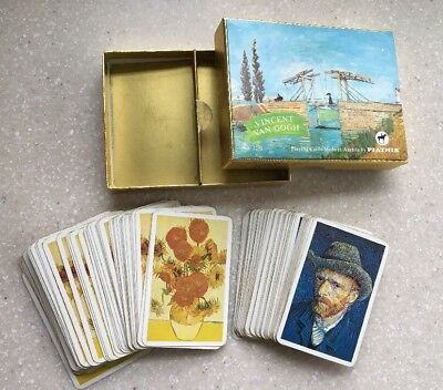 Piatnik Playing Cards Vincent Van Gogh Vintage Austria No. 2251 Used Double Deck