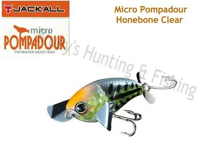Jackall Micro Pompadour floating topwater 6.5g Bass bait lure;Honebone clear