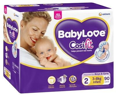 Baby Love Nappies Infant Jumbo - 90 Pack