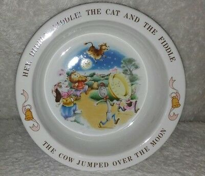 Avon 1984 HEY DIDDLE DIDDLE Bowl Nursery Rhyme MOTHER GOOSE Excellent Condition