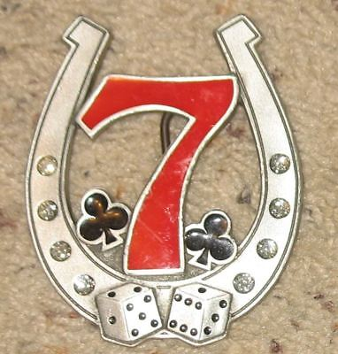 Ladies Lucky 7 Horseshow - Pewter Belt Buckle