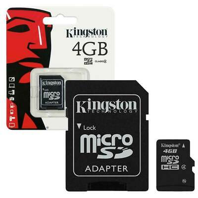 Kingston Micro SD SDHC Memory Card 4GB Memory with SD card Adapter Class 4