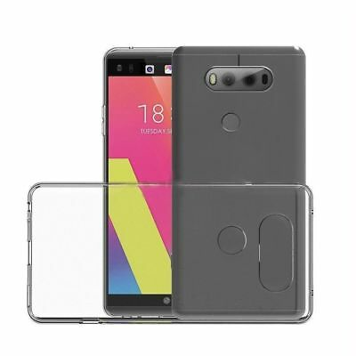 Ultra Thin Liquid Clear Transparent Soft Rubber Silicone Gel Case fits LG V30