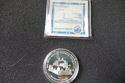 1989 Russia Ussr 3 Rubles 1 Oz Silver Proof Moscow Kremlin