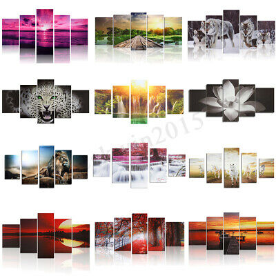Abstract Modern Art Oil Painting Canvas Print Picture Home Room Decor Unframed