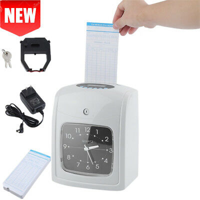 K8 Electronic Time Clock w/ 50 Cards Employee Attendance Recorder Punch Clock SE