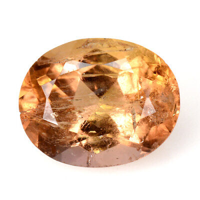 Rare Gems Stone Collection Natural Brazilian Orange Color Imperial Topaz 3.20 Ct