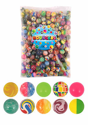 50 Bouncy Balls 27mm - Pinata Toy Loot/Party Bag Fillers Wedding/Kids Jet Gift