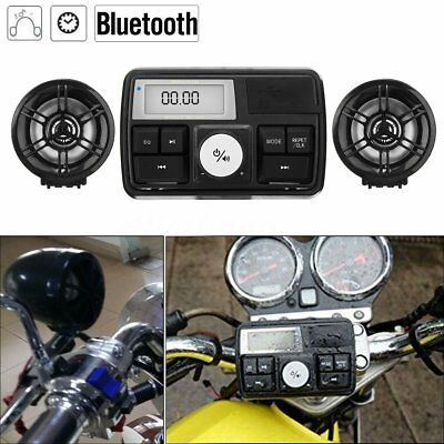 Waterpoof Bluetooth Motorcycle Audio Radio Sound System Stereo Speaker MP3 USB K