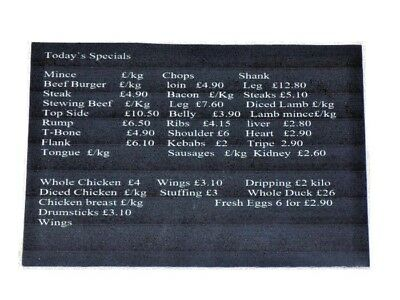 1:12th Scale Dolls House Miniature Butchers Shop Price List Sign-Accessories-