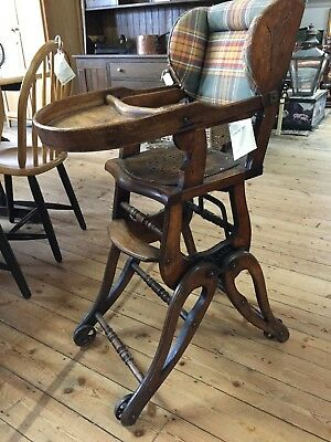 Victorian Child's  Metamorphic High Chair Rocking  circa 1890 **Sale Price**