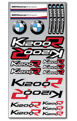 K1200R motorrad motorcycle decal set 22 premium stickers bmw K1200 R Laminated