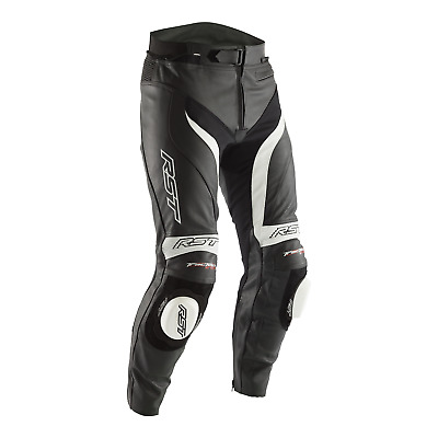 RST Tractech Evo 3 (CE) Leather Motorcycle Motorbike Sports Race Jeans White
