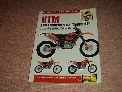Haynes KTM EXC Enduros & SX Motocross sohc 4-Strokes 00 to 07  Workshop Manual