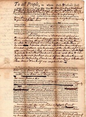 1767, York, Maine, Peter and James  Grant, land sale, James Bane signed
