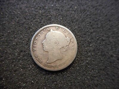 1862 New Brunswick Canadian Canada 10 Cents Silver Coin