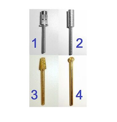 Nail Drill Bit Carbides for Electric File. Manicure Pedicure Gel Acrylic, Golden