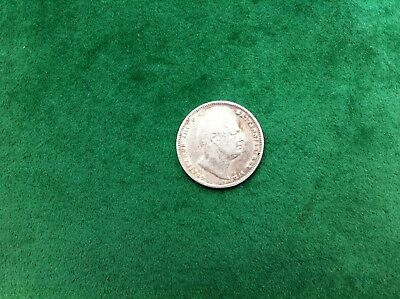 1834 King William Vi Silver Sixpence Nice Grade