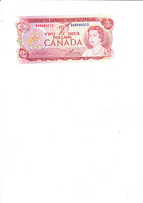 A Pre Loved 2 dollar Banknote from Canada