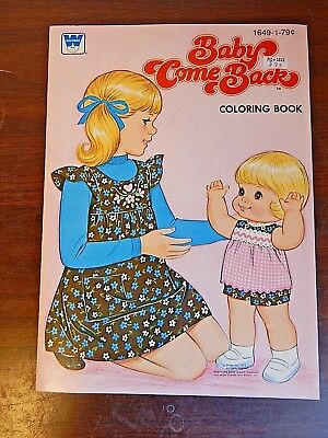Vintage 1979 Whitman/Mattel BABY COME BACK Coloring Book, Old Stock