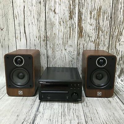 DENON RCD-M39 Black CD Receiver, 2 Speakers and Remote Music Sound Home 44480
