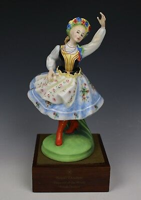 "Royal Doulton Figurine HN2836 ""Polish Dancer"" LE MINT WorldWide"