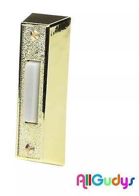 Doorbell Lighted Button Brass Color Wired Door Bell Chime Button