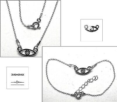 Halskette & Armband Set 45 Und 17 3 Cm Echt 925er.sterling Silber Top Bl423 Precious Metal Without Stones