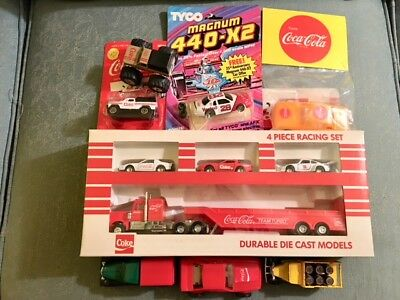 Lot of 8 Coca-Cola Cars and Trucks-Some MIB