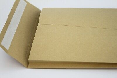 C4 / A4 120gsm PEEL & SEAL WHITE 40mm GUSSET ENVELOPES FOR PACKING & SHIPPING.