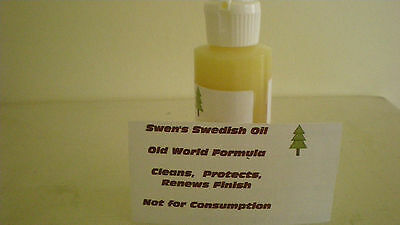 Swen's Swedish Oil (Old World Formula) 8 oz bottle, Renews Finish, protects