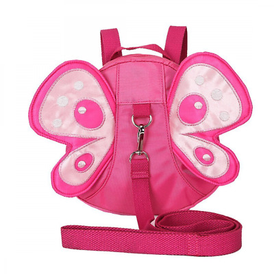 Baby Toddler Walking Safety Butterfly Backpack with Leash, Child Harness Reins S