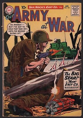 Our Army at War #102 G+ 2.5 Off White Pages