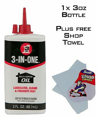 1 Bottle 3-in-one Oil 3 in 1 Lubricates, Cleans & Prevents Rust 3 in One Oil