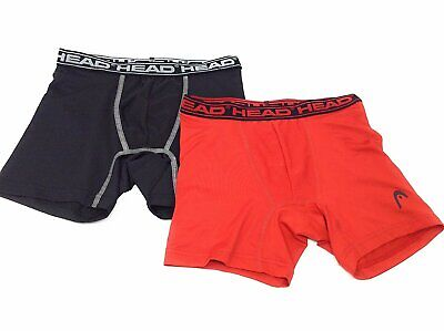 HEAD Boys Performance Boxer Briefs 2-Pack S-XL Polyester/Spandex MANY COLORS