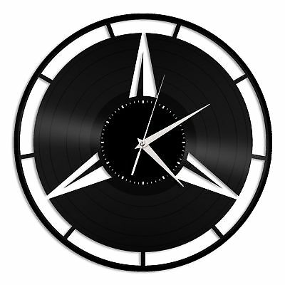 Mercedes Vinyl Wall Clock Unique Gift for Car Lovers Decoration Home Room Decor