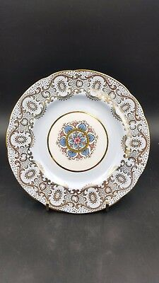 """Paragon by appointment Pale Blue & Pink with Gold Scroll 6"""" Side Plate"""