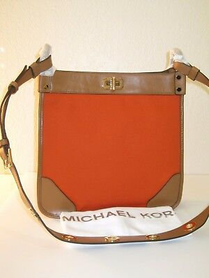 45fae06cd628d MICHAEL Michael Kors Tangerine Brown Sullivan Large NS Messenger Bag  328
