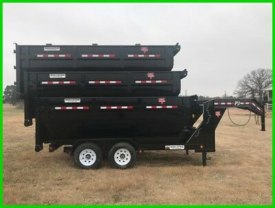 2018 Pj Trailers Rollster 14' Roll Off Dump Trailer And Three Stackable Bins!
