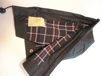 Barbour-   A107 Waxed Cotton Hood -Navy- Snap On Type- Large- Made In England