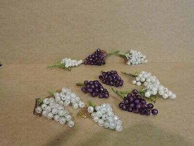 """12 Acrylic Cluster Grapes (Approx. 3"""" Tall) Choose From 2 Colors"""