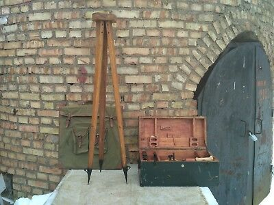 Geodetic Surveying Tripod Tool Field Large Plane Table Case 30s-40s USSR Army