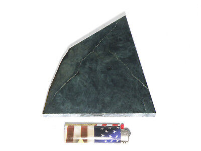 """Blue Dream Jade 3/8""""+ Polished Slab (Lapidary or Jewelry Rough - Nephrite)"""