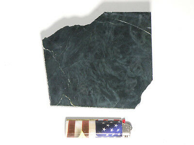 "Blue Dream Jade 3/16"" Polished Slab (Lapidary or Jewelry Rough - Nephrite)"